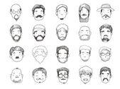 Guys with beard illustration — Stock Photo