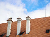 Chimney on the roof — Stock Photo