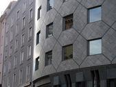 Modern architect curve wall and windows — Stockfoto
