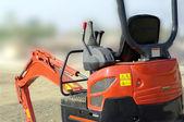 Bulldozer red mechanic  — Stock Photo
