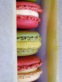 Macaron colourful dessert — Stock Photo