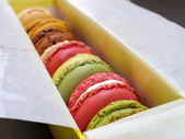 Macaron colourful dessert — Stock Photo
