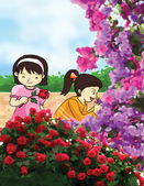 Flower smell illustration — Stock Photo