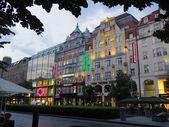 Shops area in europe light — Stok fotoğraf