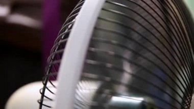 Fan swing abstract summer heat — Stock Video