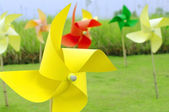 Colourful windmill pinwheel — Stock Photo