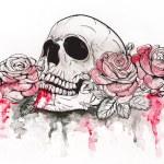 Постер, плакат: Skull with roses