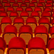 Empty red seats for cinema — Stock Photo
