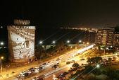 Night screening on the White Tower — Stock Photo