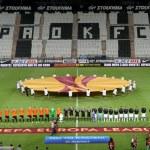 Постер, плакат: Paok Saloniki FC Shakhter Karagandy Europa League