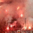 Football match between Paok and Olympiacos — Stock Photo