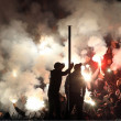 Football match between Paok and Panathnaikos — Stock Photo