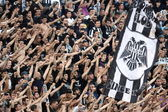 Football match between Paok and AEK — Stock Photo