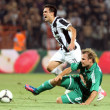 PAOK Thessaloniki against Rapid Vienna football match — Stock Photo