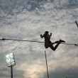 Pole Vault silhouette — Stock Photo
