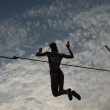 Pole Vault silhouette — Photo