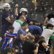 PAOK Thessaloniki against Rapid Vienna football match riots — Stock Photo