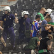 PAOK Thessaloniki against Rapid Vienna football match riots — Stock fotografie