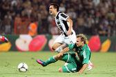 PAOK Thessaloniki against Rapid Vienna football match — Stock Photo