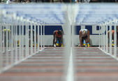 Hurdles Final — Stock Photo