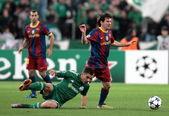 Liga mistrzów grupa fazie meczu panathinaikos vs barcelona — Zdjęcie stockowe