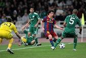 UEFA Champions League group stage match Panathinaikos vs Barcelona — Stock Photo