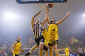 Korg league spel aris vs paok — Stockfoto