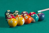 Billiard balls on table. — Foto Stock