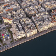 Aerial panoramic view of Thessaloniki shortly before sunset, Gre — Stock Photo