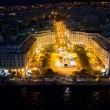Stock Photo: Aerial panoramic view of Thessaloniki at night, Greece