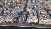 Aerial panoramic view of Thessaloniki shortly before sunset, Greece — Stock Photo