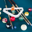Billiard balls on table. — Stock fotografie #36019691