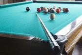 Biljardbollar på bordet. — Stockfoto