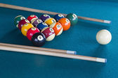 Billiard balls on table. — Stockfoto
