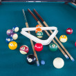 Stock Photo: Billiard balls on table.