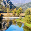 View of Nestos river and landscape on autumn — Stock Photo