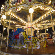Luna park carousel in a public outdoor area — Stock fotografie