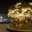 Luna park carousel in a public outdoor area — Stock Photo #37203909