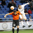Shakhter vs Paok — Stock Photo