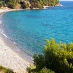 Aerial view of Koviou beach in Halkidiki, Greece — Stock Photo #38478391