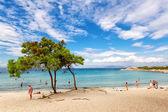 Vourvourou beach in Halkidiki, Greece — Stock Photo