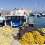 Fishing boats,Heraklion of Crete, Greece — Stock Photo #39205075