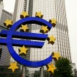 Stock Photo: Famous Big Euro Sign at EuropeCentral Bank