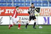Platanias Paok Superleague — Foto de Stock