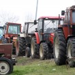 Protest by farmers with their tractors — Stock Photo #41262413