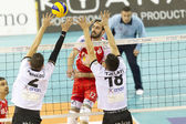 HELLENIC VOLLEYBALL LEAGUE PAOK VS OLYMPIACOS — Stock Photo