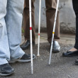 Stock Photo: Close up in blind feet with stick