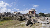 Knossos palace at Crete, Greece Knossos Palace, is the largest B — Stock Photo
