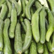 Fresh green cucumber collection outdoor on street market  — Stock Photo #44104005