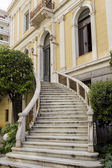 Outside marble staircase in a neoclassical building of Greece in — Stock Photo
